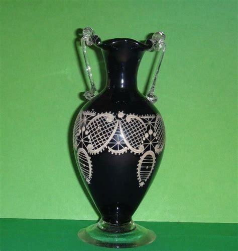 Antique Glass Vase by Antique Venetian Or Blue Glass Vase Ebay
