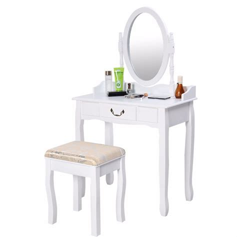 white makeup desk with vanity table jewelry makeup desk bench dresser w stool