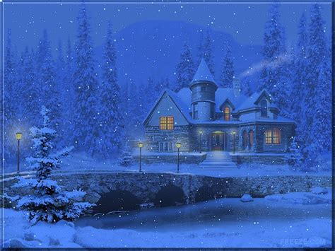 3d Snowy Cottage Animated Wallpaper Free - free wallpapers by tlc wallpapers tlc 3d snowy