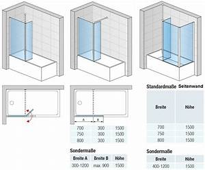 Badewanne 200 X 120 : duschkabine badewanne 120 x 150 cm 2 teilig duschabtrennung dusche badewannenabtrennung ~ Bigdaddyawards.com Haus und Dekorationen