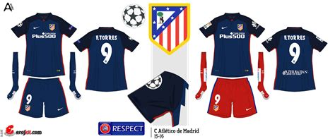 kit design by eroj 2015 16 atl 233 tico de madrid home e away