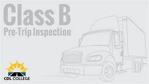 Tewksbury Sports Club Classes  Class B Cdl Pre Trip