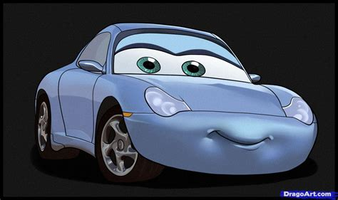 cars characters drawings how to draw sally step by step disney characters
