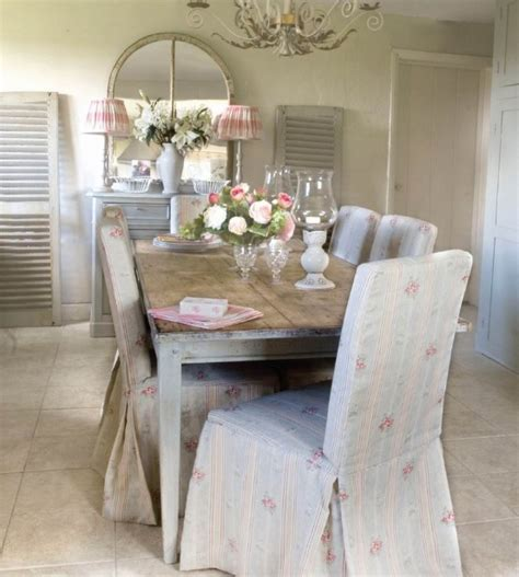 shabby chic dining room chairs dining room chair slipcovers offers fresh look to your dining room decolover net