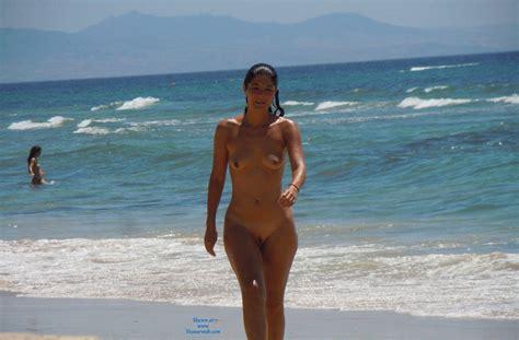 Wet And Naked In The Beach September Voyeur Web