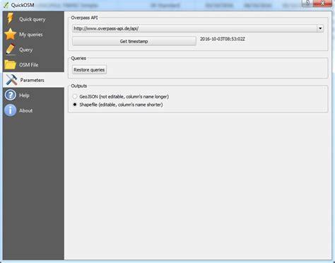 Quick Osm  Download Date Vectoriale Osm Geotutorials