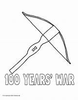 Coloring Crossbow Pages War Hundred History Printable 21kb 990px sketch template