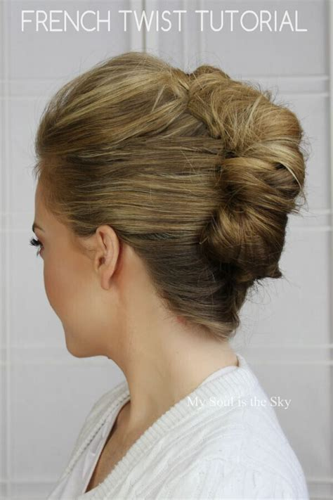 20 easy updo hairstyles for medium hair hair french