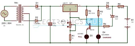 Automatic Portable Battery Charger Circuit Using