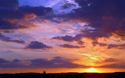 Sky Night Sunset Background Clouds Wallpapers Desktop