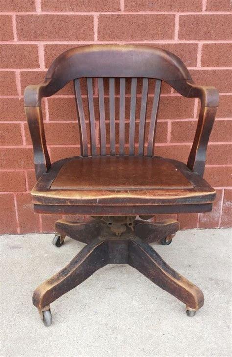 wooden swivel desk chair antique vintage marble shattuck wood chair swivel