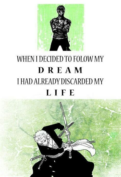 inspiring zoro quotes  piece amino