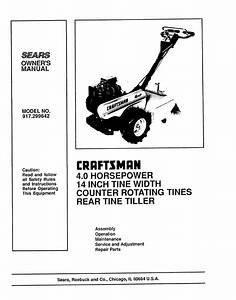 Sears 917 299642 User Manual