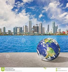 Planet Earth Goes To Miami Florida Stock Image - Image ...