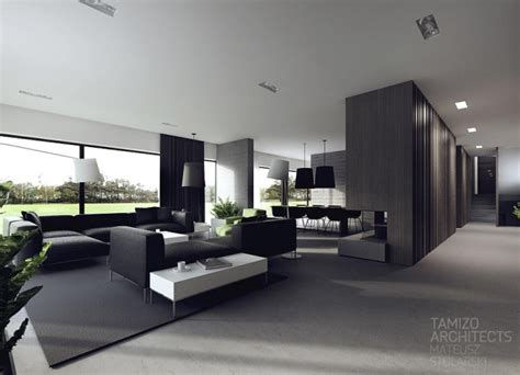 idees decoration interieur en noir  blanc