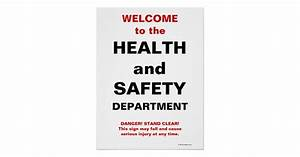 Funny Health and Safety Sign Poster Zazzle
