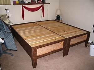 Outstanding How To Make A Platform Bed Frame Photo