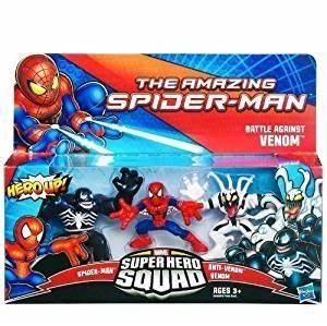 Marvel Spiderman Super Hero Squad Figure 3 Pack Battle