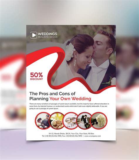 wedding event planner flyer  behance