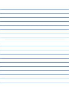 low vision writing paper 1 2 inch blue lines free