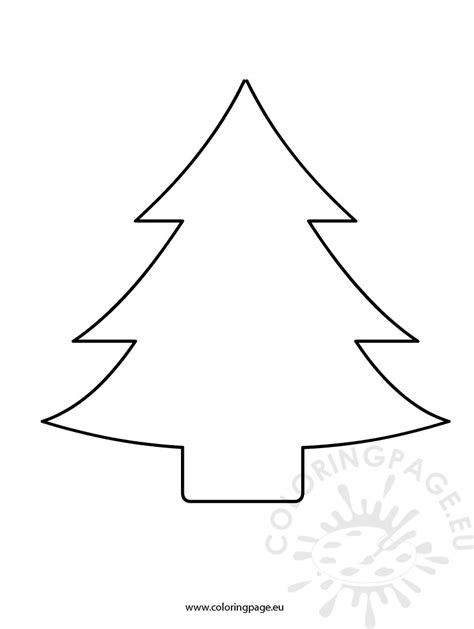 christmas tree cutout coloring page