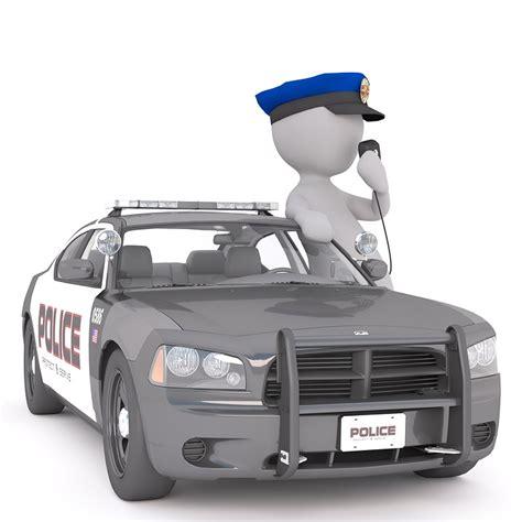 Police Car, White Male, 3d Model
