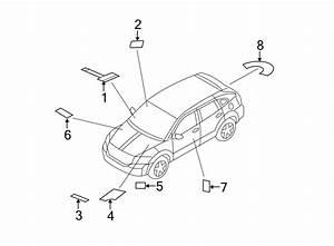 Jeep Patriot Emission Label  2 4 Liter  Manual Trans  4wd