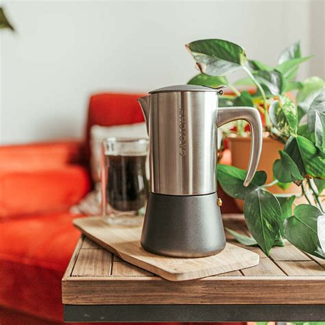 How much does the shipping cost for stovetop coffee pot? Milano Steel Stovetop Espresso Maker // Brushed (6 Cup) - Grosche - Touch of Modern