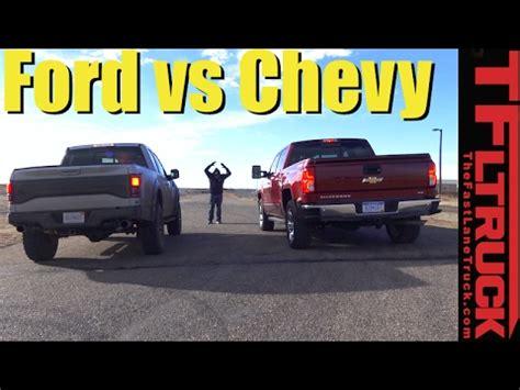 2017 Ford Raptor vs Chevy Silverado 1500 (6.2L) Mashup