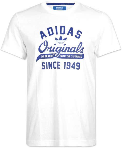 adidas originals sport t shirt white blue