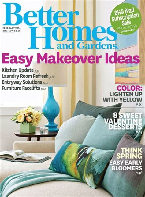 better homes and gardens magazine better homes and gardens usa february 2014