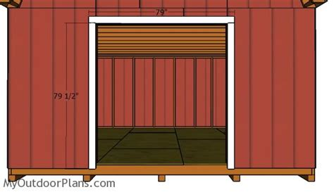 barn shed double doors plans myoutdoorplans