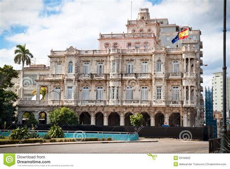 Spanish Embassy Building In Old Havana Stock Photo - Image