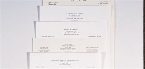 lithographed printed law firm professional stationery