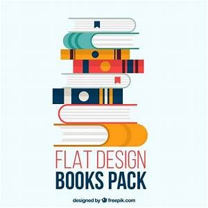 Books pack in flat design Vector | Free Download