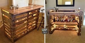 Bar Exterieur En Bois : mini bar en bois de palettes voici 20 id es cr atives ~ Premium-room.com Idées de Décoration