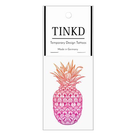 temporaere tattoos pineapple klebetattoos von tinkd