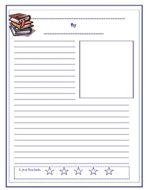 Book Review Template Book Review Template And Rubric By Fabulous In Fifth Grade