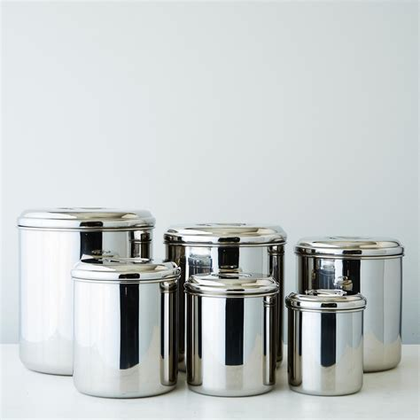 kitchen storage canisters sets stainless steel canisters set of 6 on food52