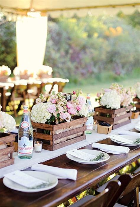 great ideas   wooden crates  rustic weddings