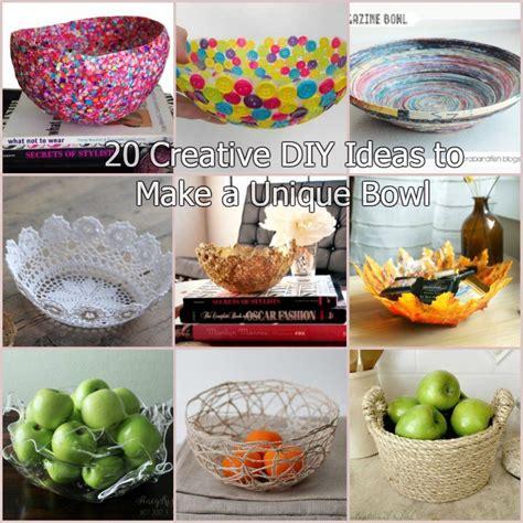 creative diy ideas    unique bowl