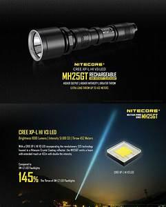 Lampe Torche Longue Portée : lampe torche nitecore mh25gt 1000lumens rechargeable en ~ Dailycaller-alerts.com Idées de Décoration