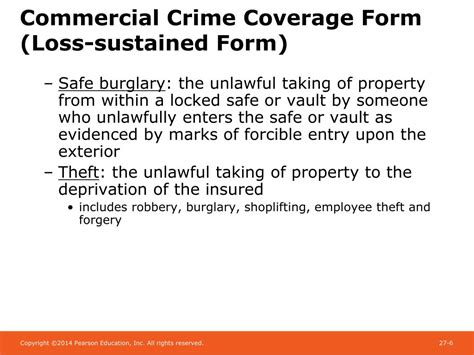 2 2 commercial crime policy period: PPT - Chapter 27 Crime Insurance and Surety Bonds PowerPoint Presentation - ID:1780124