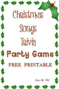 Turn up the music for these music party games for kids! Christmas Song Trivia Party Game | Christmas song trivia, Christmas trivia, Christmas party themes