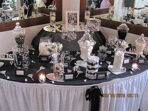 black and white candy table candy buffet photos our black and white candy buffet