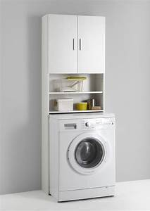 Meuble Pour Machine À Laver : meuble pour machine laver olbia blanc ~ Dode.kayakingforconservation.com Idées de Décoration