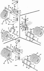 Tail Wheel Assembly 720k 725k Grasshopper Front Mount