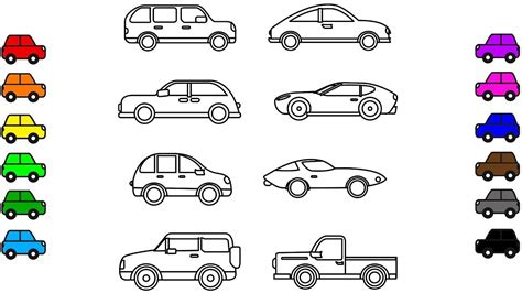 car colouring pages vehicles colouring book video