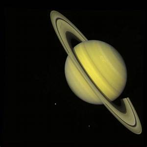 Space Images | Saturn With Rhea and Dione (true color)
