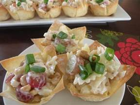 Chicken Salad Appetizer Cups